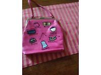 Used Pink Leather Handbag