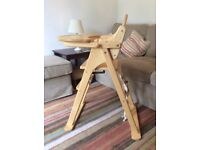 John Lewis, Dorset Folding Highchair (Wooden), Suitable for use from6 months