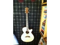 Westfield acoustic/electric six string guitar with cutaway body , model SF677/N. Model No SF677/N