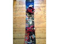 Freestyle burton snowboard with ride rx bindings (157cm)