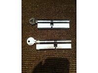 Two Lever Mortice locks with keys - Yale