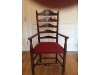 Early Georgian Ladder-back Elbow Chair c. 1780