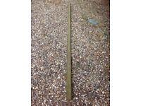 Bundle of half wooden poles