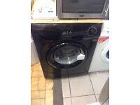 BLACK WASHING MACHINE £100 RECONDITIONED