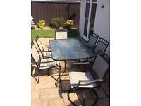 Large Garden Table and x4 Chairs
