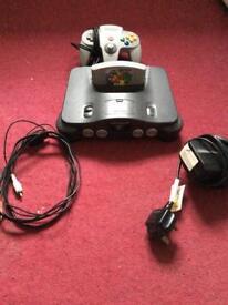 Nintendo 64 with mario 64