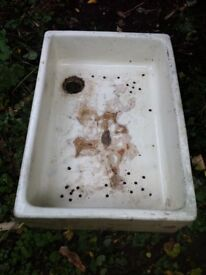 Antique Butlers Butchers Sink Trough Stone Basin as Garden Planter / Can Deliver