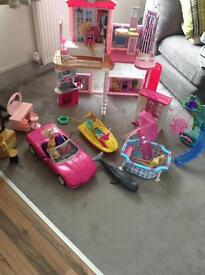 Barbie house and other Barbie toys