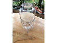 Vintage drinks dispensers glass x2 . 2 gallon