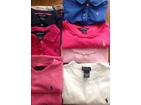 Selection of Ralph Lauren t-shirts & various named dresses & short suits