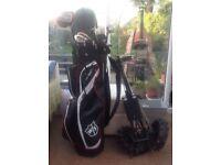 Ladies golf clubs full set MDD plus, trolley and new Wilson staff bag.