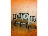 Beautiful carved original antique chairs