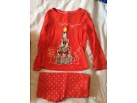 Assorted Girls Marks & Spencer Nightwear, Hello Kitty & Christmas Designs Age 5-7