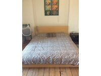Last chance to buy - huge IKEA king size malm bed worth over £500