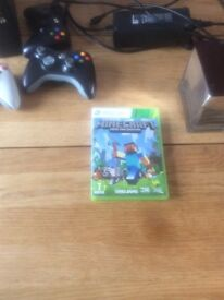 Xbox 360 with Minecraft game and x3 controllers