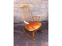 """""""OFF YOUR ROCKER"""", traditionial wooden rocking chair in excellent condition"""