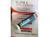 Silicone sealant adhesive fixing weatherproofing black and stone,.,.,.