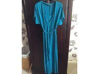 Lovely teal maternity/nursing dress