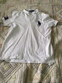 "A White ""Polo"" Shirt by Ralph Lauren - Large"