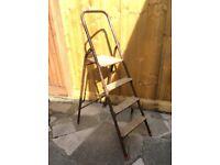 Step ladder steel framed 4 steps