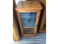 Matsui midi hifi system and pine cabinet