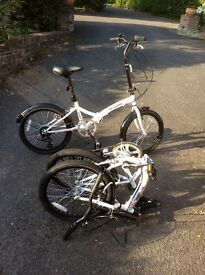 Two Integra Safari folding bikes