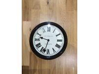 Black Jones & Co. Roman Numeral Clock
