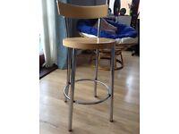 Kitchen stool stainless steel legs £5