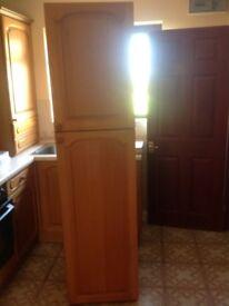 Oak veneer cupboard