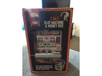 Toy slot machine & money box