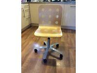 Swivel Desk Chair (wooden & adjustable height)