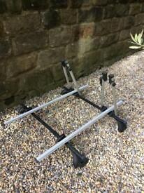 Halfords Exodus Twin Roof mounted bike carrier.