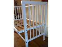 """Co-sleeper """"Next to Me"""" open sided cot bed"""