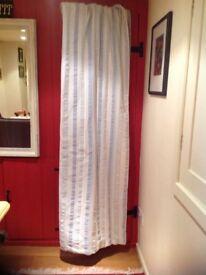 Pale blue stripe curtains