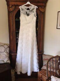 Bianco Evento NINFEA (A-Line) Wedding Dress Size 12 Not Worn