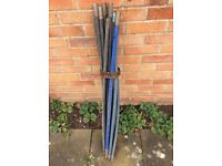 14 old drain rods handy for drains or chimneys free Armani belt.