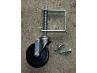 Gate support wheel + bolts - never been fitted
