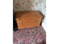 Pinewood Storage/Blanket Or Toy Box