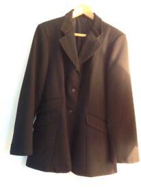 Ladies black show jacket with velvet collar size 16