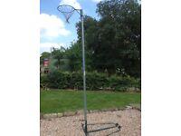 Netball post. Heavy duty outdoor, wheelaway free-standing full size post.