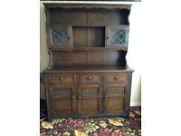A Large Vintage Dark Wood Dresser