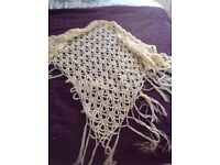 Cream Crotcheted Shawl