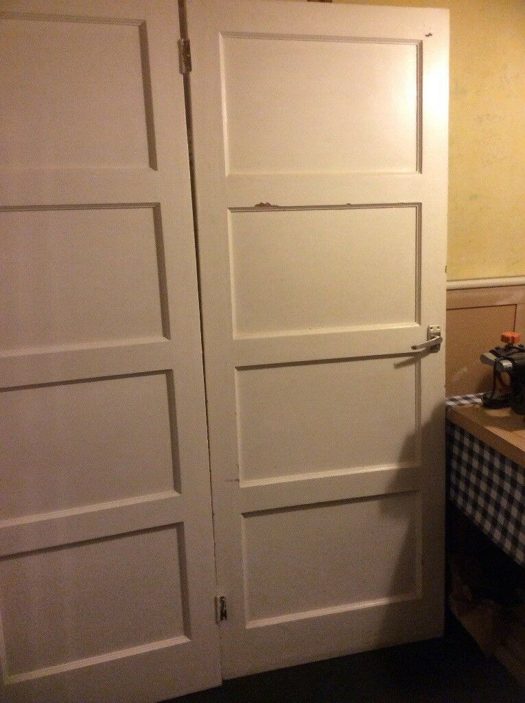 9 (2 sizes) 1930's four panel internal pine doors. FREE for anyone willing to collect.