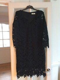 Matalans black lace effect dress