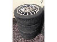 Set of 4 Tyres 215/45 ZR17 91W XL