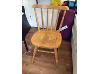 1 wooden chair for sale- Free (available in mid July)