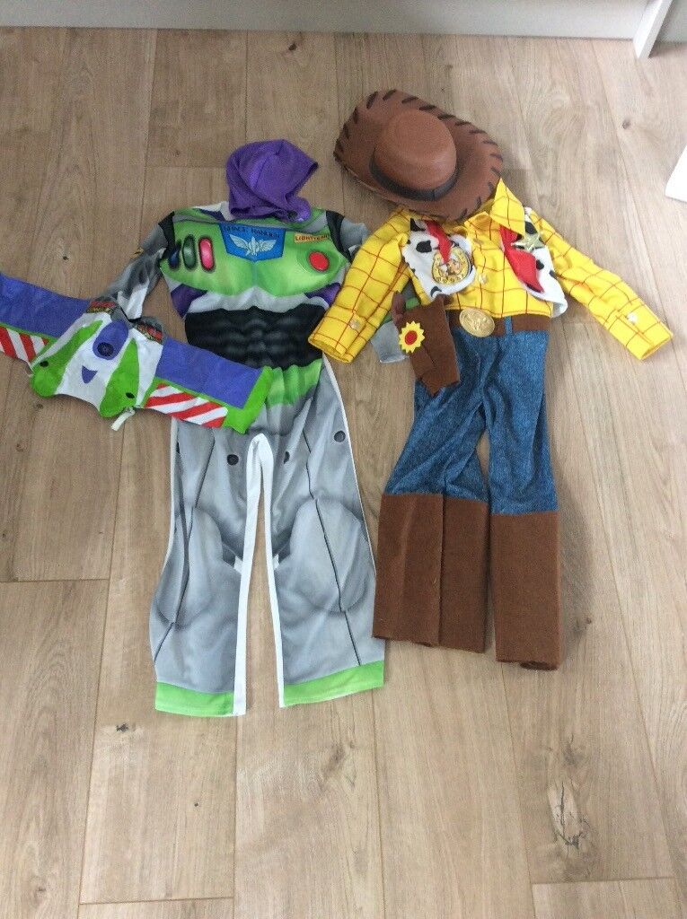 Woody Buzz Dressing Up Outfits For Boy 5 6 Good Condition In