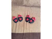 Mamas & Papas Navy & Red Star Pram Shoes 0-3 months & 3-6 months
