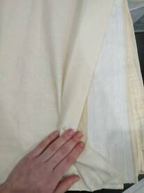 New Creamy cotton curtains