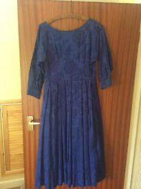 Vintage blue floral Laura Ashley dress